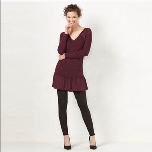 Lauren Conrad mixed media tunic sweater